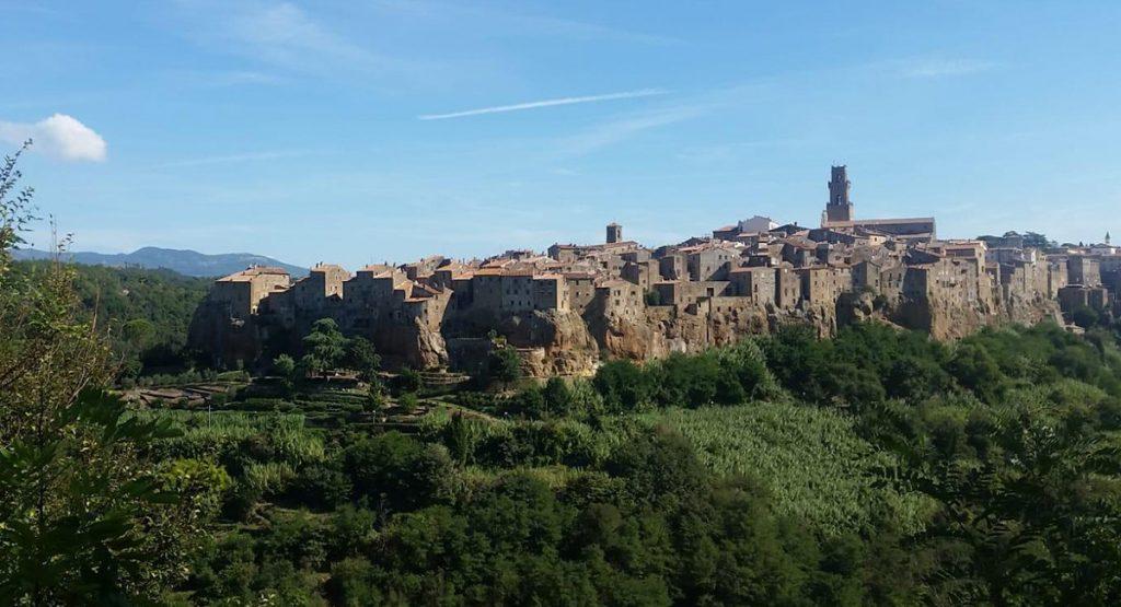 Pittigliano view of the town