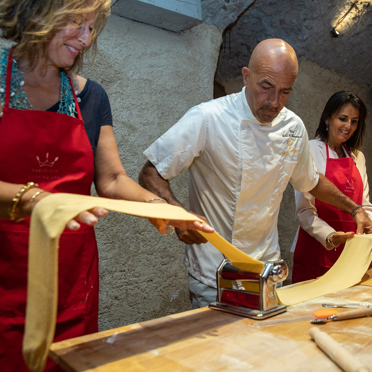Cooking classes and food tours in Rome - making fresh pasta with chef Fabio